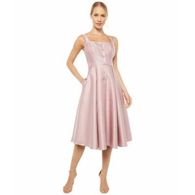 アドリアナ パペル レディース ワンピース トップス Mikado Tea Length Dress with Button Detail Aurora Pink