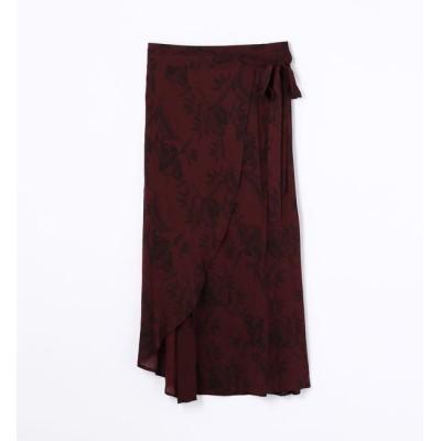 【トゥモローランド/TOMORROWLAND】 レーヨンプリント ラップスカート WEBP5925