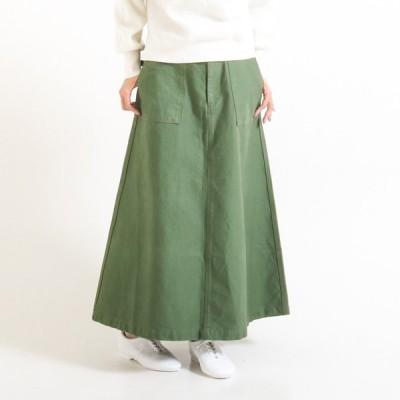 D.M.G ドミンゴ フィールドバックサテン ベーカーオールドスカート FIELD BACK SATIN BAKER OLD SKIRT 17-409T レディース ロングスカート マキシスカート