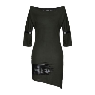 ディースクエアード DSQUARED2 ミニワンピース&ドレス ミリタリーグリーン XS コットン 100% ミニワンピース&ドレス