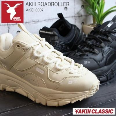 アキクラシック 厚底スニーカー レディース AKIII ROADROLLER AKC0007 ダッドスニーカー 韓国 厚底 ダッド系