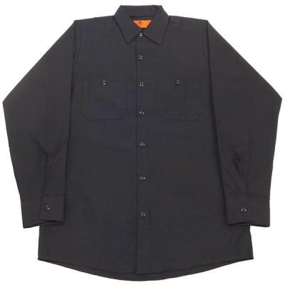 RED KAP LONG SLEEVE WORK SHIRTS(レッドキャップ長袖ワークシャツ)(ブラック 2XLサイズ)