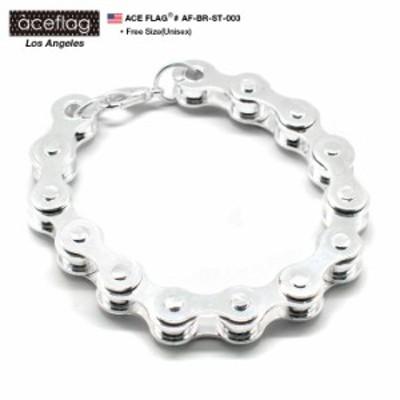 b系 ヒップホップ ストリート系 ファッション メンズ レディース ブレスレット ACEFLAG/エースフラッグ【AF-BR-ST-003】≪BICYCLE CHAIN