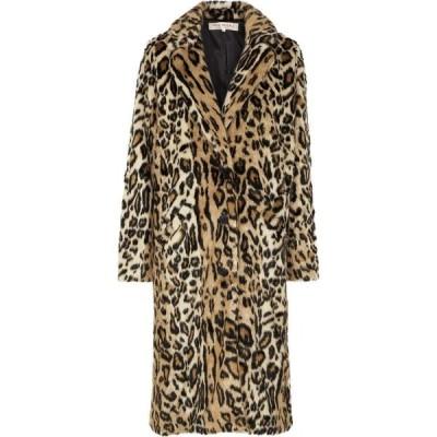 フリーピープル Free People レディース コート ファーコート アウター Chloe Leopard-Print Faux Fur Coat Yellow