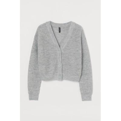 H&M - クロップドカーディガン - グレー