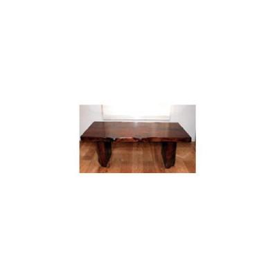 欅(ケヤキ)一枚板 ダイニングテーブル 食卓・職人手作り・つや消し塗装・天然木/自然木