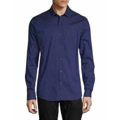 スコッチ&ソーダ メンズ カジュアル ボタンダウンシャツ Long-Sleeve Cotton Button-Down Shirt