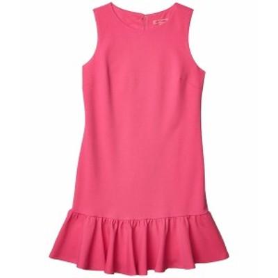 ベッツィジョンソン レディース ワンピース トップス Scuba Crepe Dress with Ruffled Hem Party Girl Pink