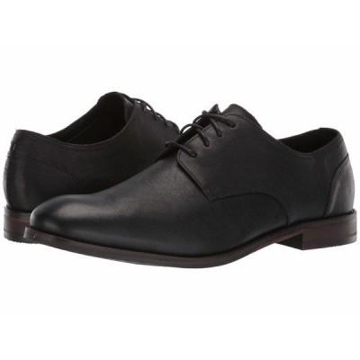 クラークス オックスフォード シューズ メンズ Flow Plain Black Leather