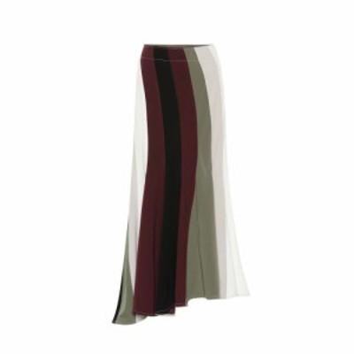 J.W.アンダーソン JW Anderson レディース ひざ丈スカート スカート asymmetric midi skirt Off White