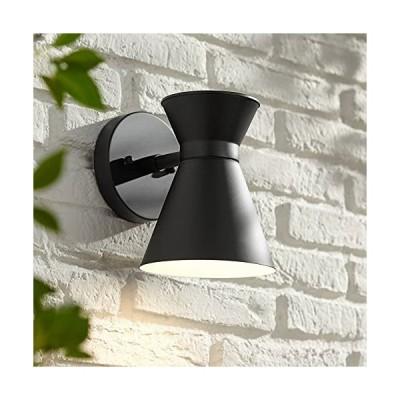 """送料無料!Vance Modern Contemporary Outdoor Wall Light Fixture LED Black Steel Metal 8"""" Swivel Head Decor for Exterior House Porch Pati"""