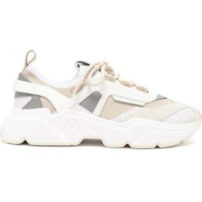 ドルチェandガッバーナ Dolce and Gabbana メンズ スニーカー シューズ・靴 Daymaster leather. suede and mesh trainers White