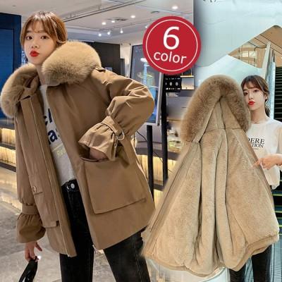 極厚裏起毛 ゆったり 韓国ファッション  アウター コート レディース 可愛い カジュアル 暖かい 防寒保温