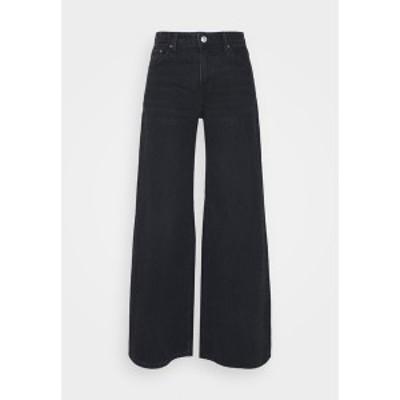ウィークデイ レディース デニムパンツ ボトムス RAY LOW - Flared Jeans - washed black washed black