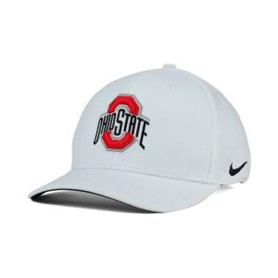 ナイキ メンズ 帽子 アクセサリー Ohio State Buckeyes Classic Swoosh Cap White