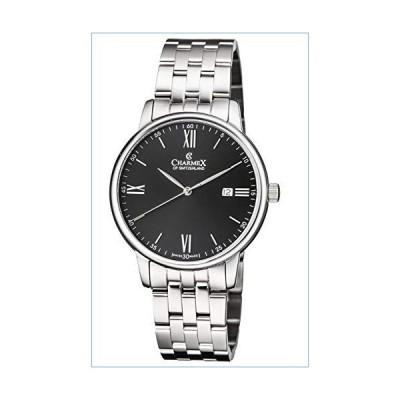 Charmex Luxury Men's 'Amalfi' Wrist Watch Stainless Steel Case and Black Stainless Steel Band ? 42mm Analog Watch ? Swiss Quartz Movement (M