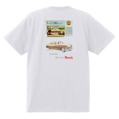アドバタイジング マーキュリーTシャツ 白 1273 黒地へ変更可 レトロ 1950 1949 レッドスレッド ローライダー ロカビリー モナーク