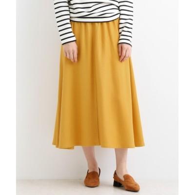 【マリン フランセーズ/LA MARINE FRANCAISE】 ウール混カラーフラノ フレアースカート