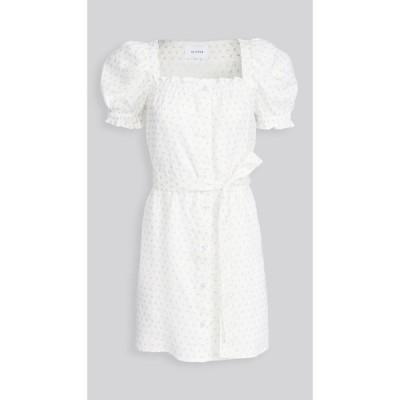 スリーパー Sleeper レディース ワンピース ミニ丈 ワンピース・ドレス Brigitte Mini Dress White/Pink