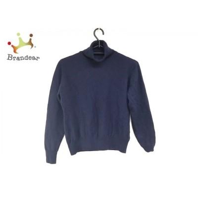 ジョンスメドレー JOHN SMEDLEY 長袖セーター サイズM レディース 美品 ネイビー タートルネック 新着 20200408