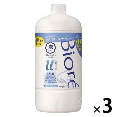 ビオレu ザ ボディ 泡タイプ ピュアリーサボンの香り 詰め替え 800ml 3個 花王