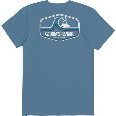 クイックシルバー シャツ トップス メンズ Quiksilver Men's Highway Vagabond T-Shirt BlueHeaven