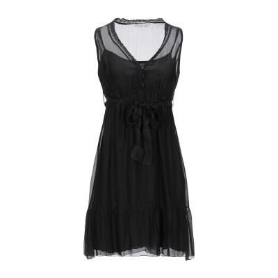 PAOLO CASALINI ミニワンピース&ドレス ブラック M レーヨン 70% / シルク 30% ミニワンピース&ドレス
