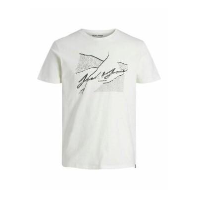 ジャックアンドジョーンズ メンズ ファッション JORRON TEE CREW NECK - Print T-shirt - cloud dancer