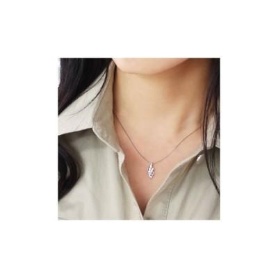 ネックレス 0.32ct プラチナ ダイヤモンド ネックレス リーフ 受注生産