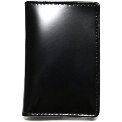 ブラック F 紳士 本革 牛革 メンズ レディース 薄型 名刺入れ カード入れ 定期入れ カードケース 名刺ケース パスケース たくさん入る 男性 女