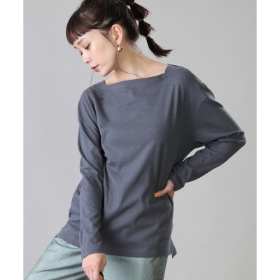 tシャツ Tシャツ AMERICANA/アメリカーナ 丸胴ラフィー天竺ボートネックTシャツ