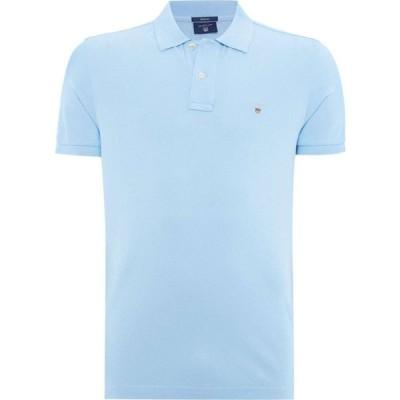 ガント Gant メンズ ポロシャツ 半袖 トップス Original Pique Short Sleeve Polo Light Blue