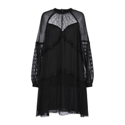 ピンコ PINKO ミニワンピース&ドレス ブラック 38 レーヨン 100% / ポリエステル / ナイロン ミニワンピース&ドレス