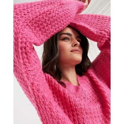 アックスパリ レディース ニット&セーター アウター AX Paris chunky chenille sweater in pink Pink