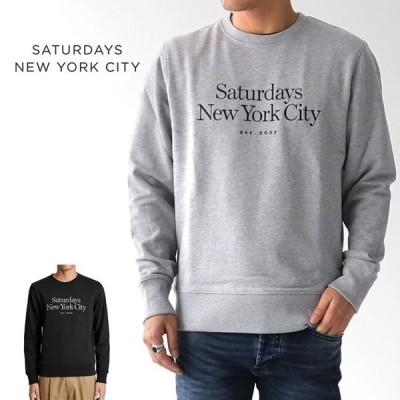 [TIME SALE] Saturdays NYC サタデーズ ニューヨークシティ クルーネック ロゴ スウェット M41928BW01 トレーナー 10周年