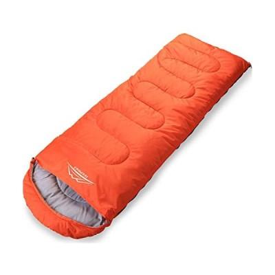 LEEPWEI[最新版]寝袋 封筒型 軽量 保温 210T防水シュラフ コンパクト アウトドア キャンプ 登山 車中泊 防災用 丸洗