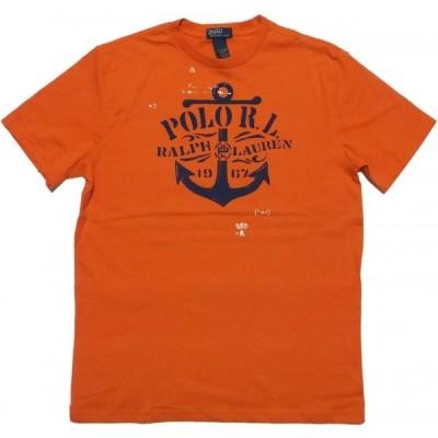 ポロ ラルフローレン ボーイズサイズ 半袖 プリント Tシャツ オレンジ Polo Ralph Lauren boys 970