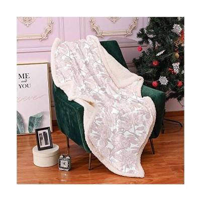 SeptSonne Peonies Sherpa Blankets,Soft Toned Flowering Plants in Bridal Romantic Tones Valentines Feminine Design Lightweight Fluffy Flannel