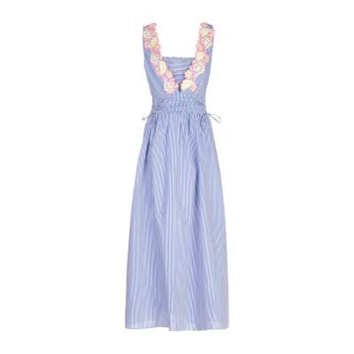 BOUTIQUE MOSCHINO ロングワンピース&ドレス ブルー 40 コットン 80% / シルク 20% ロングワンピース&ドレス