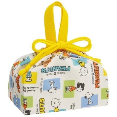 ランチクロス キャラクター ランチ巾着 スヌーピー ツートンカラー KB7 ランチマット ランチョンマット お弁当包み 弁当箱包み