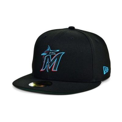ニューエラ 帽子 アクセサリー メンズ Miami Marlins 2020 Opening Day 59FIFTY-FITTED Cap Black