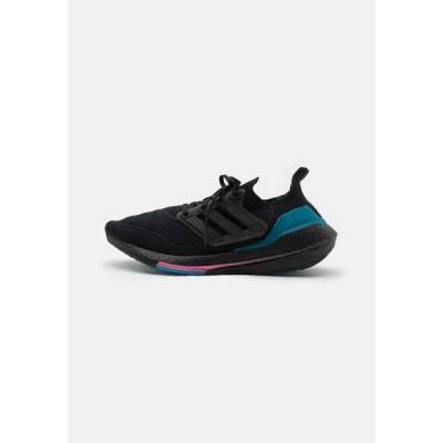 アディダス シューズ メンズ ランニング ULTRABOOST 21 - Neutral running shoes - core black/carboctive teal
