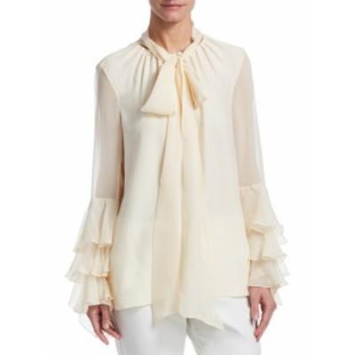 プラバル・グルン レディース トップス シャツ Silk Bell-Sleeve Blouse