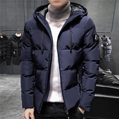 中綿ジャケットメンズスタジャン中綿入りジップアップパーカー紳士用jacket中綿コートミディアム丈厚手暖かい秋冬