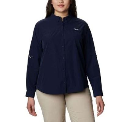 コロンビア レディース シャツ トップス Columbia Women's Coral Point LS Woven Shirt Collegiate Navy