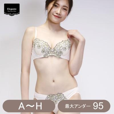 脇高レースブラ&ショーツセット(エレガンテ/Elegante)