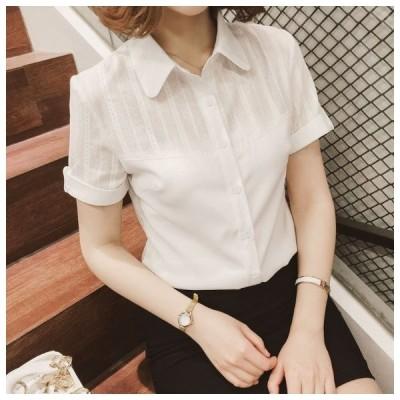 ワイシャツ 半袖 クールビズ 事務服 制服 ワイシャツ レディース 半袖ワイシャツ シャツ ブラウス OL 通勤着 フォーマル ビジネス