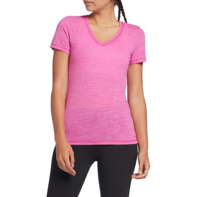 DSG レディース Tシャツ Vネック トップス Core Cotton Jersey V-Neck T-Shirt Lush Berry Slub