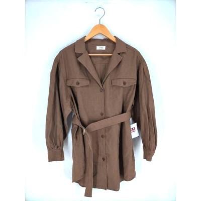 エヴリス EVRIS リネンライクルーズシャツジャケット レディース FREE 中古 古着 210609