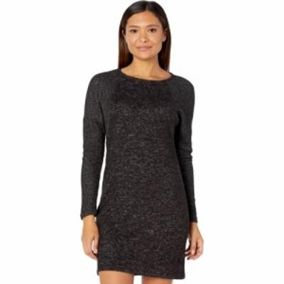 ボボウ Bobeau レディース ワンピース ワンピース・ドレス Long Sleeve Dolman Cozy Dress Raven Black Mix